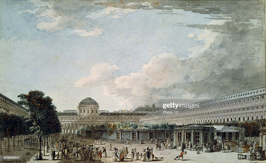 Lespinasse, The Palace of Philippe Egalite in 1791 : News Photo