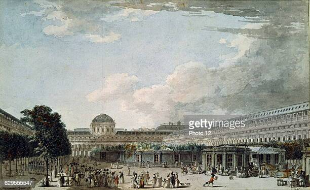 Jean LespinaseFrench schoolThe Palace of Philippe Egalite duc d'Orleans in 1791 Palais Royal Paris18th centuryParis musee Carnavalet