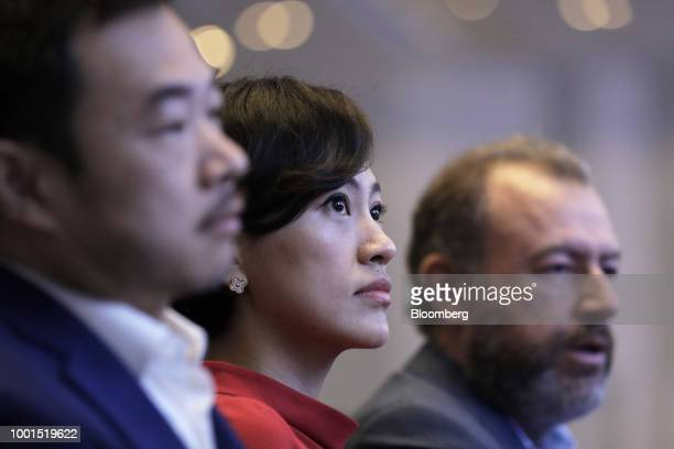 Jean Liu president of Didi Chuxing center attends the SoftBank World 2018 event in Tokyo Japan on Thursday July 19 2018 SoftBank Group Corp and...