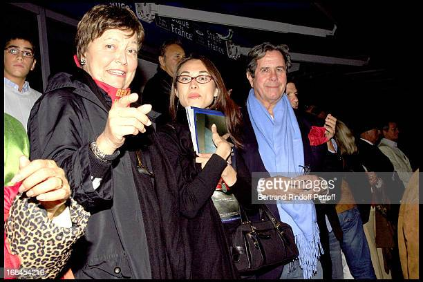 Jean Louis and Anne Marie Debre their son Guillaume and his wife Ben Hur show at the French stadium
