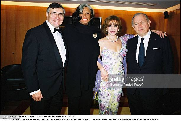 Jean Louis Beffa 'Betty Lagardere' Madame 'Akram Ojjeh' and 'Hugues Gall' at L'Arop Gala At L'Opera Bastille In Paris
