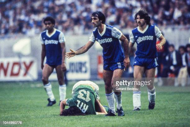 Jean Louis Cazes of Bastia during the French national cup final match between Bastia and St Etienne at Parc des Princes Paris France on June 13 1981