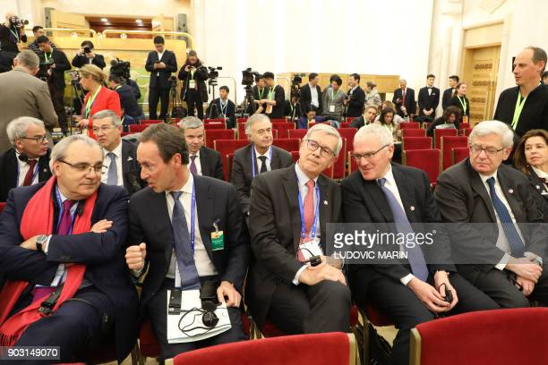 Jean Louis Chaussade CEO of Suez Environnement Fabrice Bregier managing director of Airbus Philippe Varin CEO of Areva JeanBernard Levy CEO of EDF...