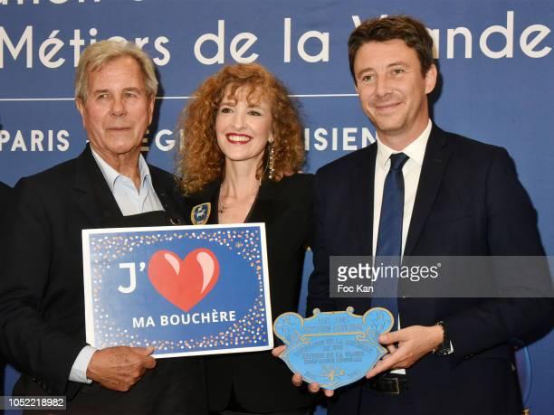 Jean Louis Debre Veronique Langlais and Benjamin Griveaux attend The Federation Boucherie de Paris 150th Anniversary Lunch at Pavillon Royal on...
