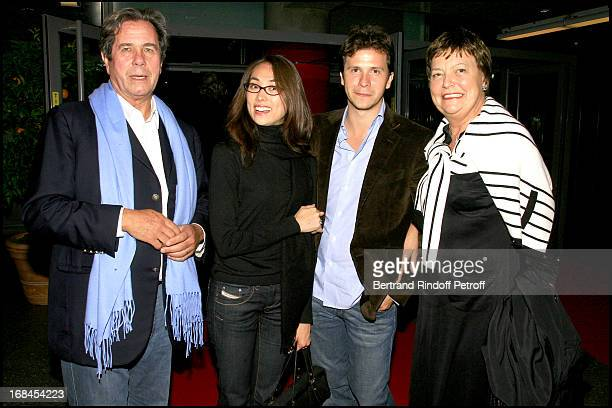 Jean Louis Debre wife Anne Marie their son Guillaume and his wife 'Ben Hur' show at the French stadium
