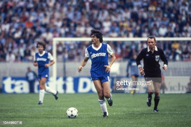 Jean Louis Desvignes of Bastia during the French national cup final match between Bastia and St Etienne at Parc des Princes Paris France on June 13...