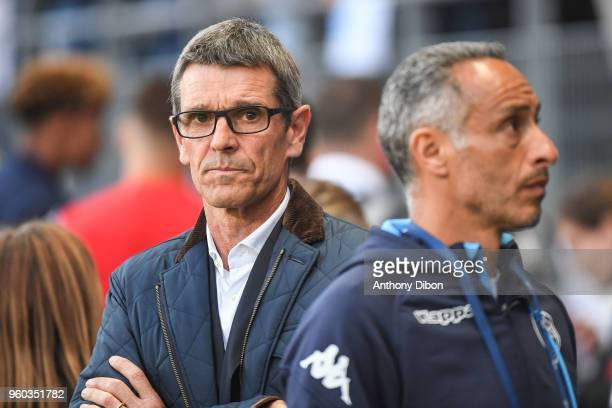 Jean Louis Garcia coach of Troyes during the Ligue 1 match between Troyes AC and AS Monaco at Stade de l'Aube on May 19 2018 in Troyes