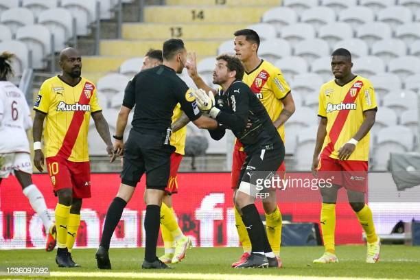 Jean Louis LECA during the Ligue 1 Uber Eats match between Lens and Metz at Stade Bollaert-Delelis on October 24, 2021 in Lens, France.