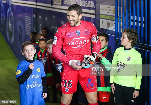 Jean Louis Leca of Bastia during the French Ligue 1 match between Bastian and Caen at Stade Armand Cesari on January 28 2017 in Bastia France