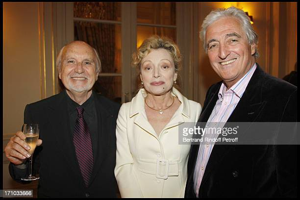 Jean Louis Livi and his wife Caroline Silhol Jean Loup Dabadie at 10th Edition Of Literary Prize Cine Roman Carte Noire At Hotel Plaza Athenee In...