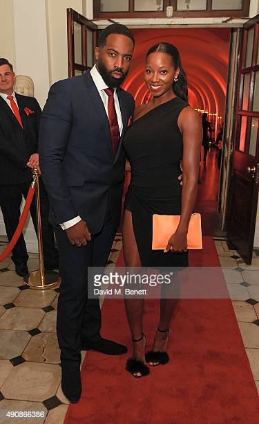 Jean Louis Pascal and Jamelia attend a fundraising event in aid of the Nepal Youth Foundation hosted by David Walliams at Banqueting House on October...