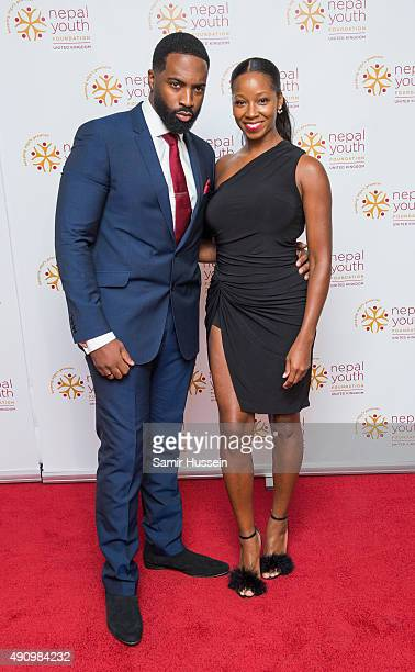 Jean Louis Pascal and Jamelia attends a fundraising event in aid of the Nepal Youth Foundation at Banqueting House on October 1 2015 in London England