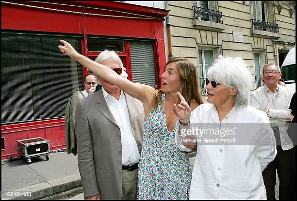 Jean Louis Seigner, Mathilde Seigner and Catherine Lara at Commemorative Plaque Tribute To Louis Seigner.