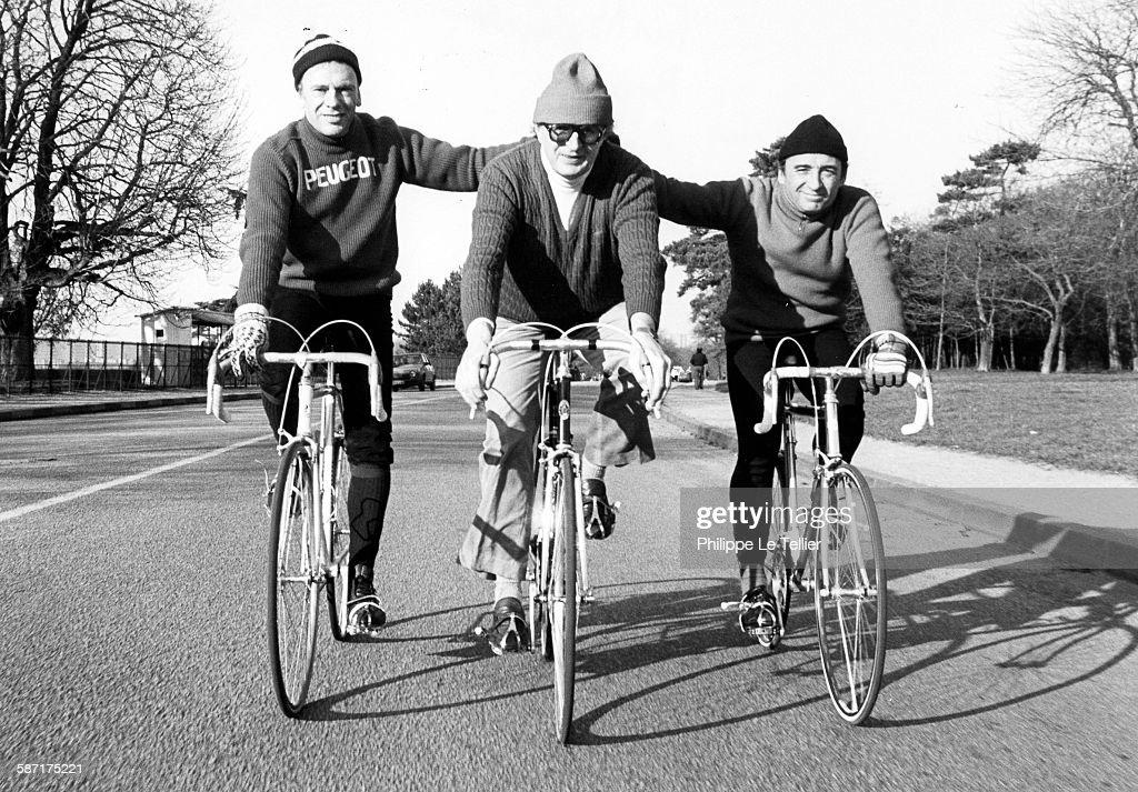 Jean Louis Trintignant, Pierre Brasseur And Nicolas Ribowski : News Photo