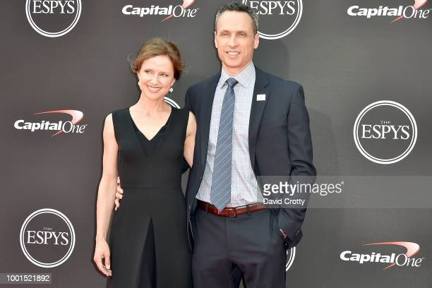 Jean Louisa Kelly and Jimmy Pitaro attend The 2018 ESPYS at Microsoft Theater on July 18 2018 in Los Angeles California