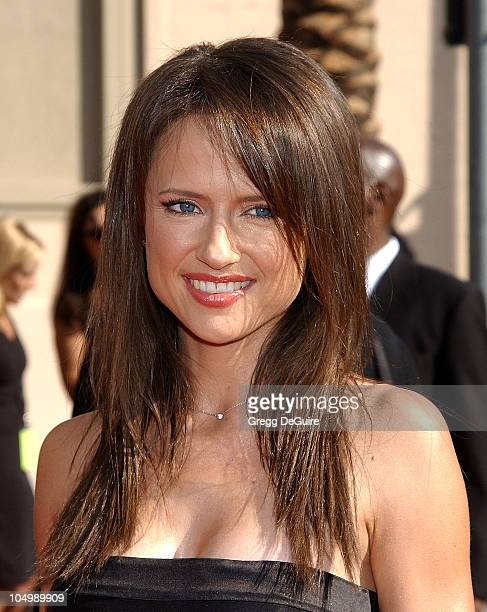 Jean Louisa Kelly during 2002 Creative Arts Emmy Awards Arrivals at Shrine Auditorium in Los Angeles California United States