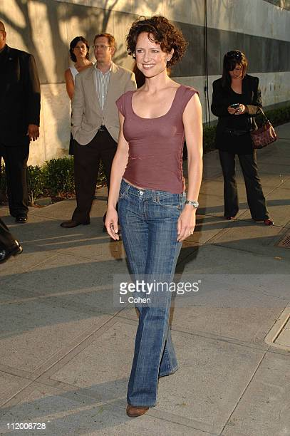 Jean Louisa Kelly during CBS 2005 TCA Party Red Carpet at Hammer Museum in Los Angeles California United States