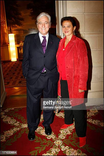 Jean Loup Dabadie and his wife Veronique at Francis Huster Received As Commander In the National Order Of Merit During Ceremony At Elysee Palace