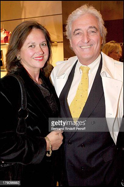 Jean Loup Dabadie and wife Veronique at Cocktail Party To Celebrate The New Collection GBag Tod's At Tod's Boutique