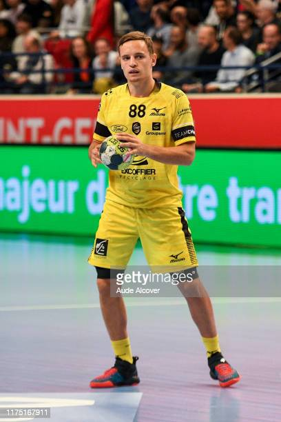 Jean Loup FAUSTIN of Chambery during the Lidl Starligue match between Paris Saint Germain and Chambery at Stade Pierre de Coubertin on October 10...