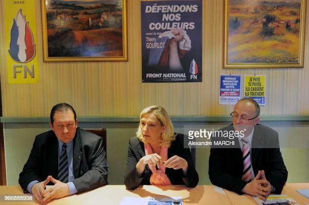 Jean Luc Manoury Marine Le Pen et Thierry Gourlot