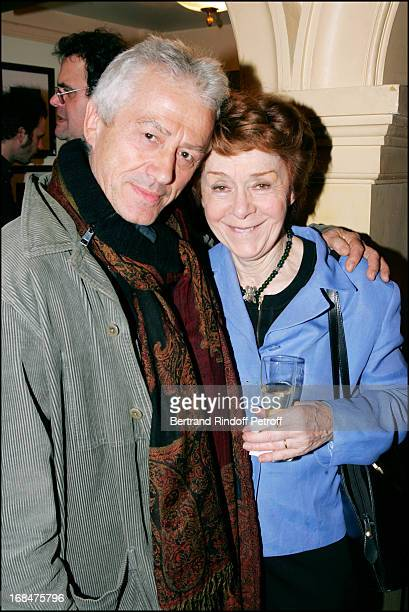 Jean Luc Moreau and Annick Alane at Dinner For The 200th Of 'Honeymoon' At The Cafe Guitry's Edouard VI Theatre