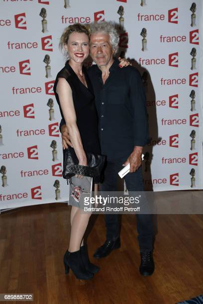 Jean Luc Moreau and his wife Mathilde Penin attend La Nuit des Molieres 2017 at Folies Bergeres on May 29 2017 in Paris France