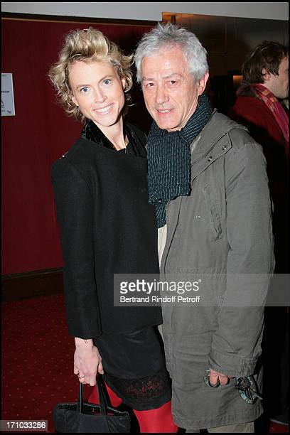 Jean Luc Moreau and his wife Mathilde Penin The ToutParis gathered at the theater De La Porte Saint Martin for the play Le Diner De Cons