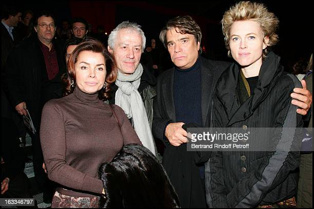 Jean Luc Moreau and wife Mathilde Penin Bernard Tapie and wife at the Theatre Production Orange Mecanique At Theatre De La Menagerie Du Cirque D'...