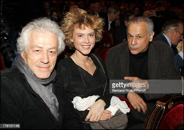 Jean Luc Moreau and wife Mathilde Penin Francis Perrin at The Paris Production Hilarmonic Show By Michel Leeb Accompanied By The Paris Symphonic...