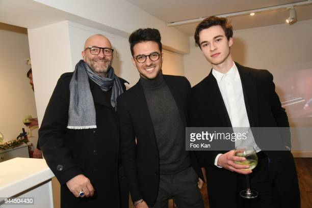 Jean Luc Pehau Ricau photographer artist Ludovic Baron and Antoine Normand attend the 'Bel RP' 10th Anniversary at Atelier Sevigne on April 10 2018...