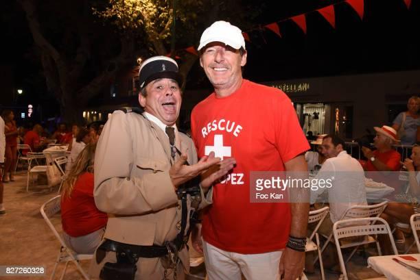 Jean Luc Reichman and Comedian Patrick Chagnaud known as Le Gendarme de Saint Tropez attend the AJILA Sauvez le coeur des femmes Petanque Auction...