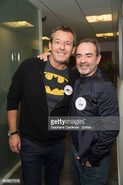 Jean Luc Reichmann and Bruno Solo attend the Aurel BGC Charity Benefit Day 2017 on September 11 2017 in Paris France