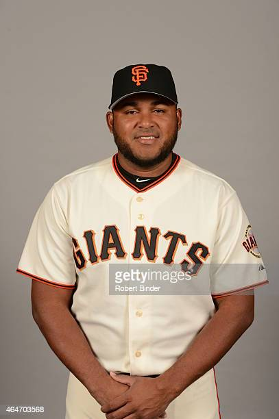 Jean Machi of the San Francisco Giants poses during Photo Day on Friday February 27 2015 at Scottsdale Stadium in Scottsdale Arizona