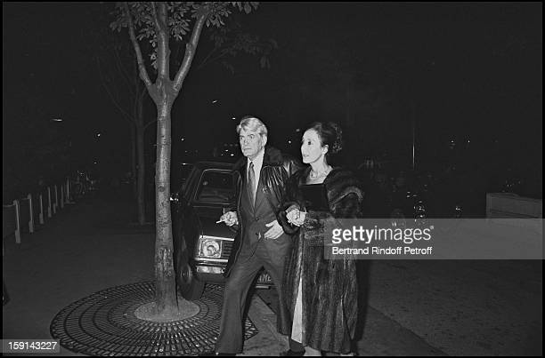Jean Marais and guest in Paris in 1977