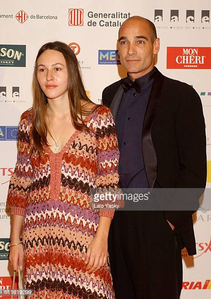 Jean Marc Barr and guest during 2004 European Film Academy Awards at The Forum in Barcelona Spain