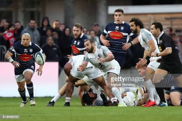 Jean Marc Doussain of Toulouse during the French Top 14 match between Agen and Toulouse on February 17 2018 in Agen France