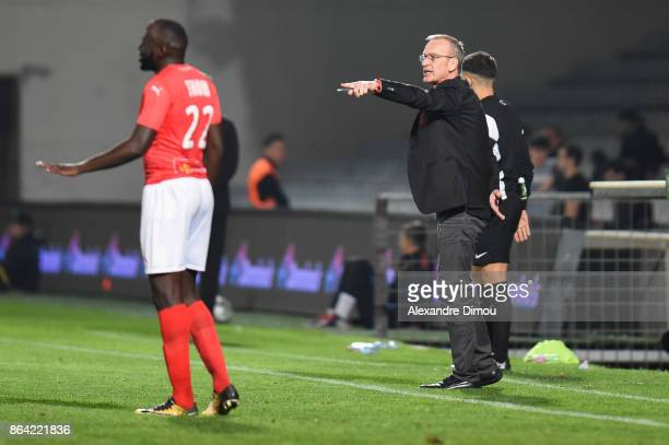 Jean Marc Furlan Coach of Brest during the Ligue 2 match between Nimes Olympique and Stade Brestois at on October 20 2017 in Nimes France