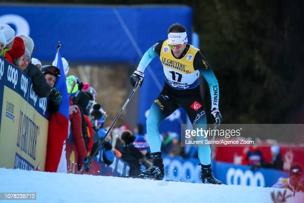 Jean Marc Gaillard of France competes during the FIS Nordic World Cup Men's and Women's Cross Country Final Climb on January 6, 2019 in Val Di...