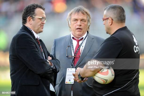 Jean Marc MANDUCHER - - , Christophe URIOS - , - - Lyon OU / Oyonnax - 28e journee Pro D2,