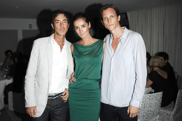 Jean MarcHoumard Rekha Luther Magnus Berger attend the INTERVIEW Magazine LVMH Host`s Art Basel 2009 Cocktails and Dinner at Mondrian Hotel on...