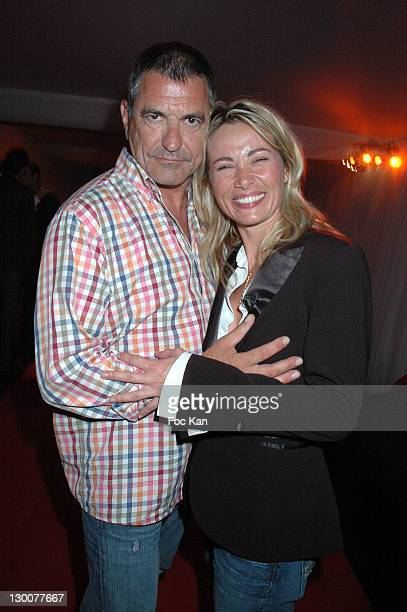 Jean Marie Bigard and Celine Balitran during 2005 Cannes Film Festival Marc Dorcel Party at VIP Room Cannes Palm Beach in Cannes France