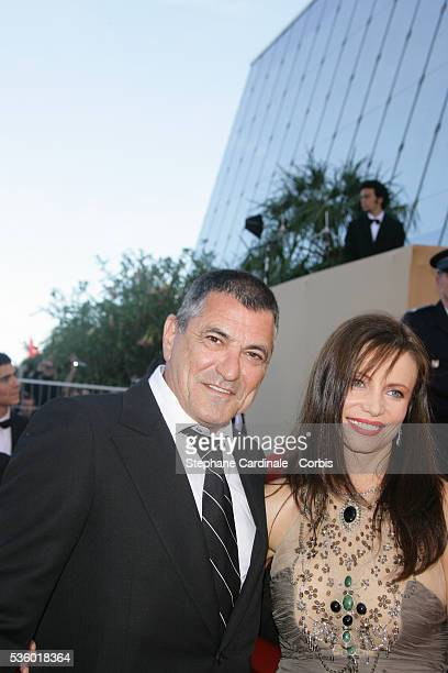 Jean Marie Bigard and his wife arrive at the premiere of 'Zodiac' during the 60th Cannes Film Festival