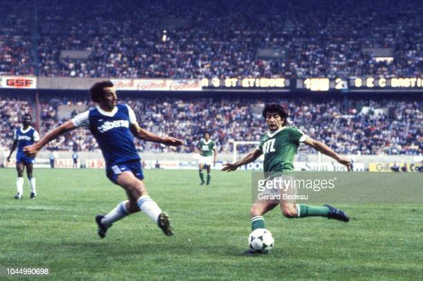 Jean Marie Elie of Saint Etienne during the French national cup final match between Bastia and St Etienne at Parc des Princes Paris France on June 13...