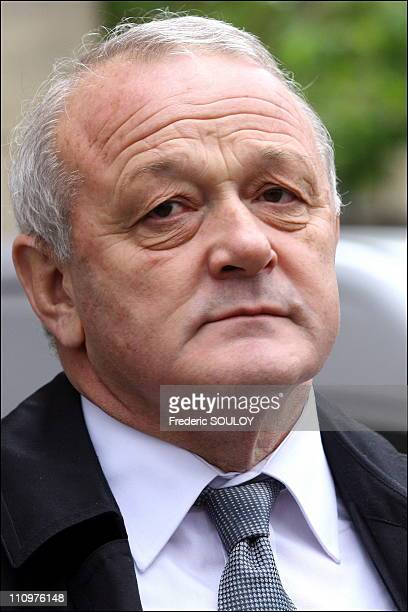 Jean Marie Leblanc at the funeral of Philippe Amaury at the church of St Francis Xavier in Paris France on May 31st 2006