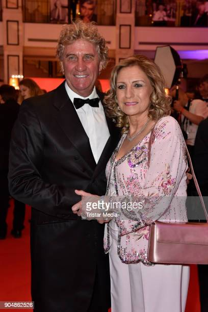 Jean Marie Pfaff and guest attend the 117th Press Ball on January 13 2018 in Berlin Germany