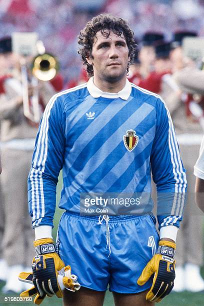 Jean Marie Pfaff during the Football European Championship between Denmark and Belgium at Stade La Meinau Strasbourg France on 19 June 1984