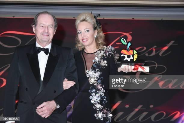 Jean Marie Rouart and Best 2018 awarded Princesse Camilla de Bourbon des Deux Siciles attend the 41st The Best Award Ceremony in Paris Paris Fashion...