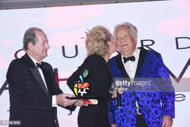Jean Marie Rouart Princesse Camilla de Bourbon des Deux Siciles and Massimo Gargia attend the 41st The Best Award Ceremony in Paris Paris Fashion...