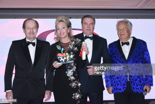 Jean Marie Rouart Princesse Camilla de Bourbon des Deux Siciles Prince Bourbon des Deux Siciles and Massimo Gargia attend the 41st The Best Award...